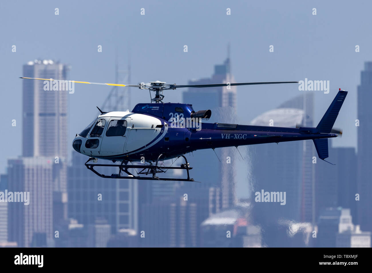 Eurocopter AS 350B3 Helicopter VH-XGC conducting aerial
