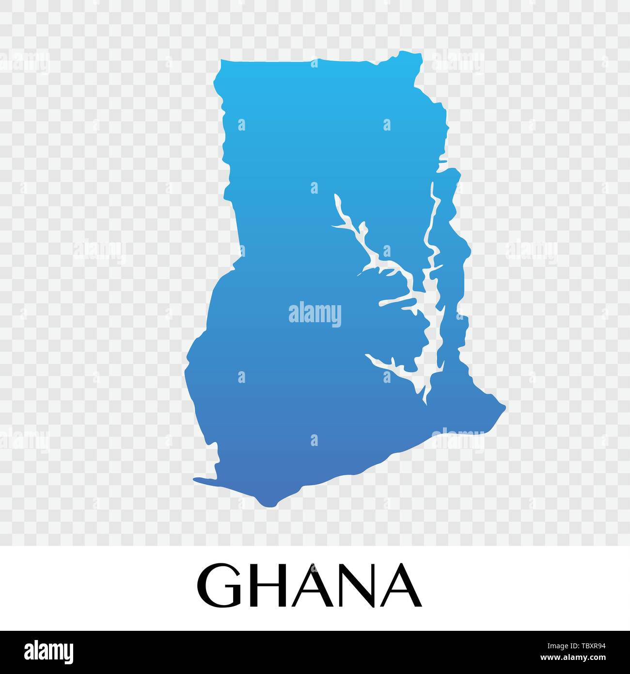 Ghana map in Africa  continent illustration design - Stock Vector