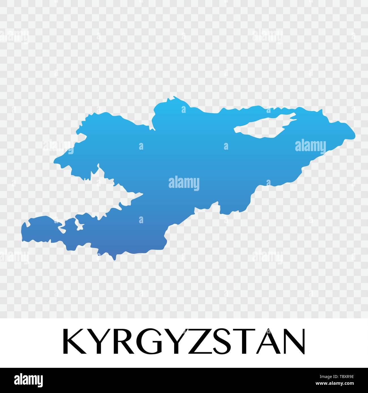 Map Of Asia Kyrgyzstan.Kyrgyzstan Map In Asia Continent Illustration Design Stock Vector