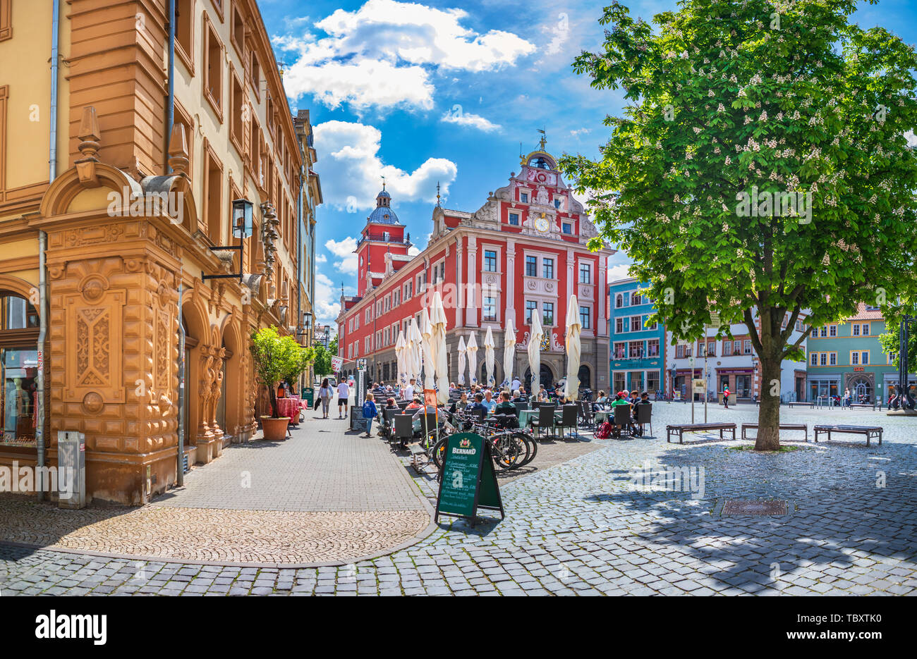 GOTHA, GERMANY - CIRCA MAY, 2019: City administration alias Stadtverwaltung on Hauptmarkt of Gotha, Thuringia, Germany Stock Photo