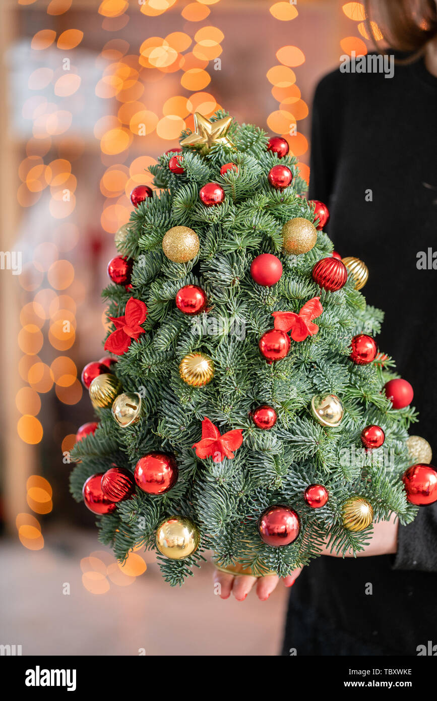 Small Beautiful Christmas Tree Made By Hand Work Florist