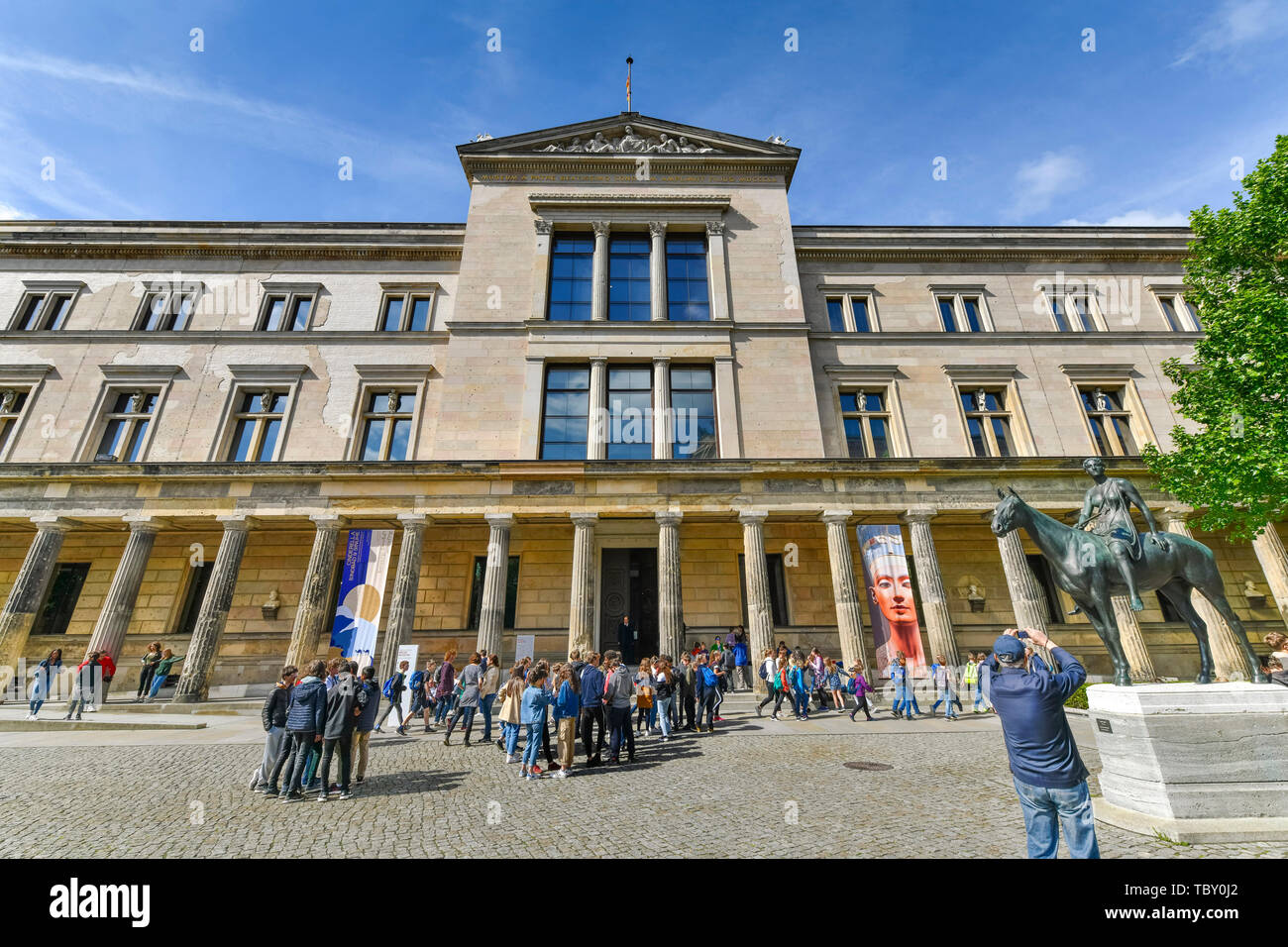 New museum, Bodestrasse, museum island, middle, Berlin, Germany, Neues Museum, Bodestraße, Museumsinsel, Mitte, Deutschland Stock Photo