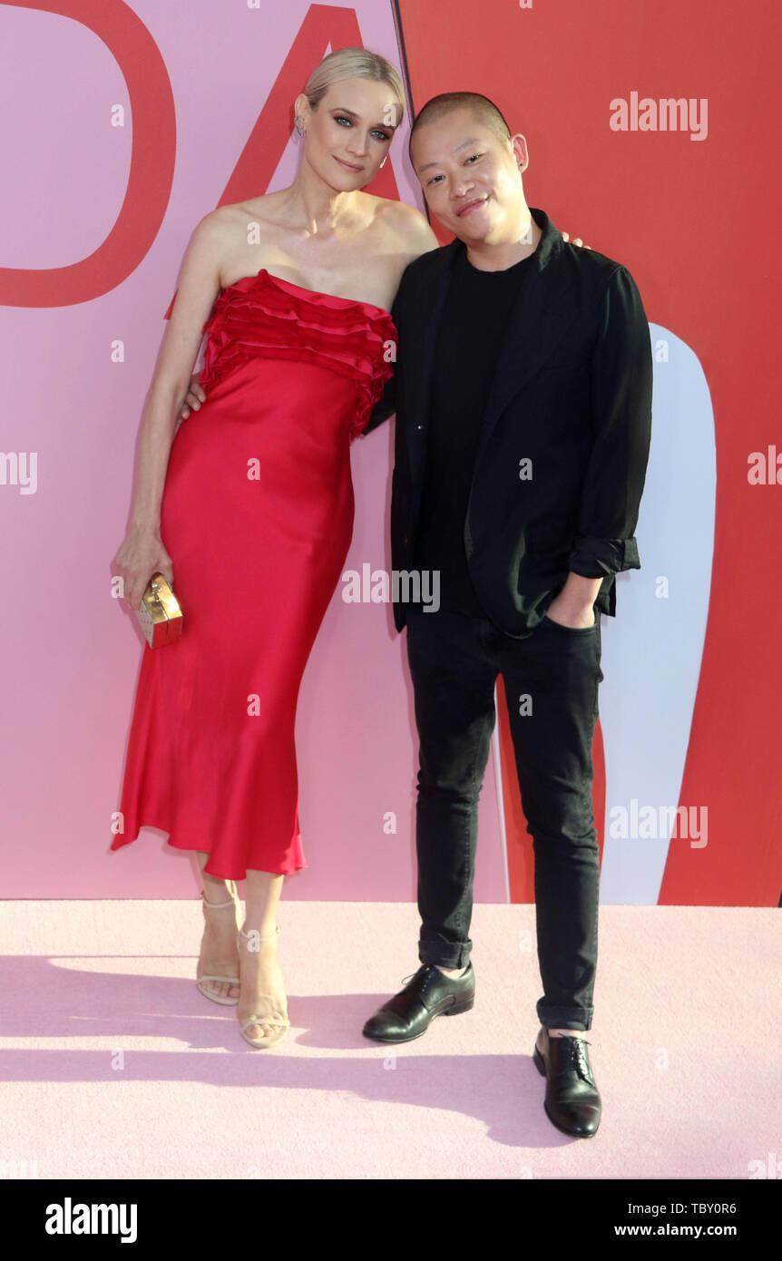 June 3 2019 New York City New York U S Actress Diane Kruger And Designer Jason Wu