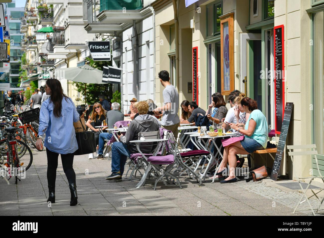 Street Café Lettestrasse Place Helmholtz Prenzlauer Mountain