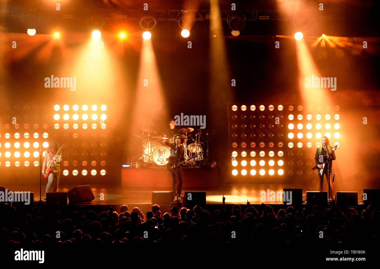 "Prague, Czech Republic. 03rd June, 2019. American rock band ""Alice in Chains"" performs in Prague, Czech Republic, on June 3, 2019. Credit: Katerina Sulova/CTK Photo/Alamy Live News Stock Photo"