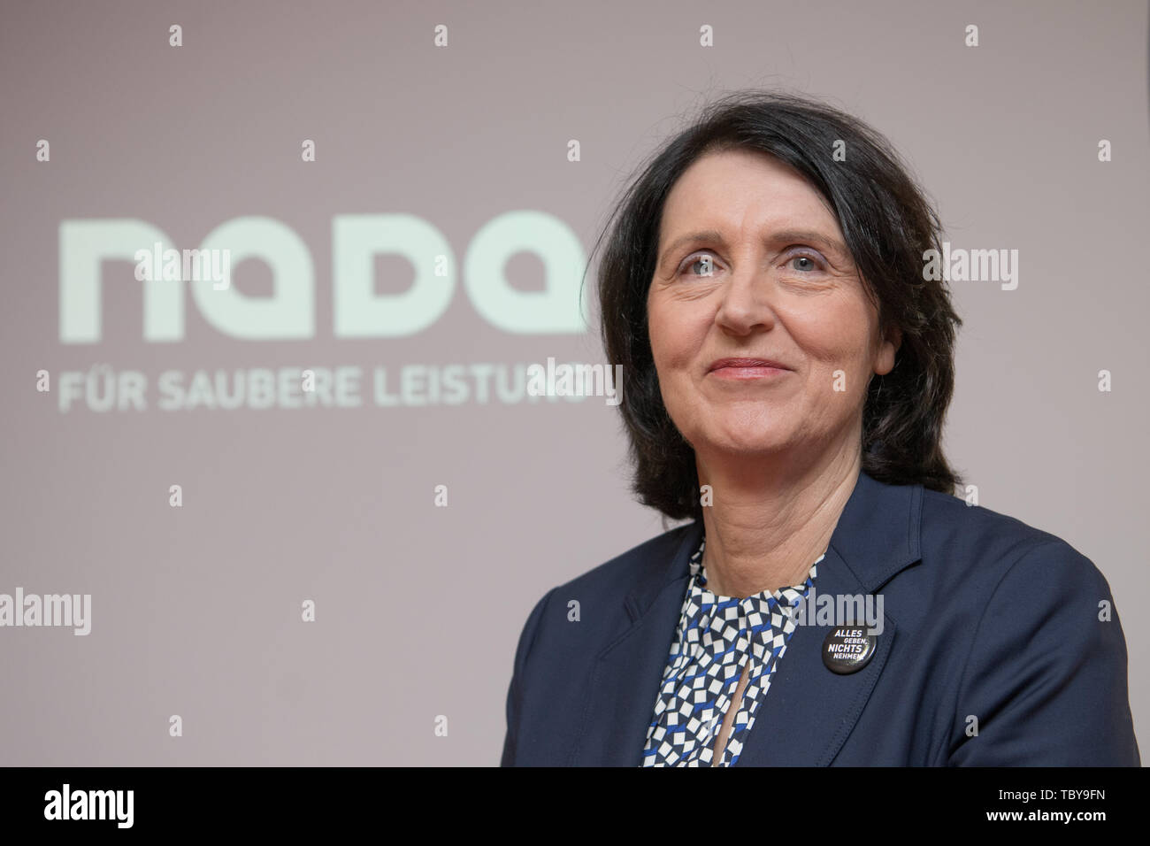 Berlin, Germany. 04th June, 2019. Andrea Gotzmann, Chief Executive Officer of the National Anti-Doping Agency Germany (NADA), recorded at the NADA Annual Press Conference. Credit: Jörg Carstensen/dpa/Alamy Live News Stock Photo