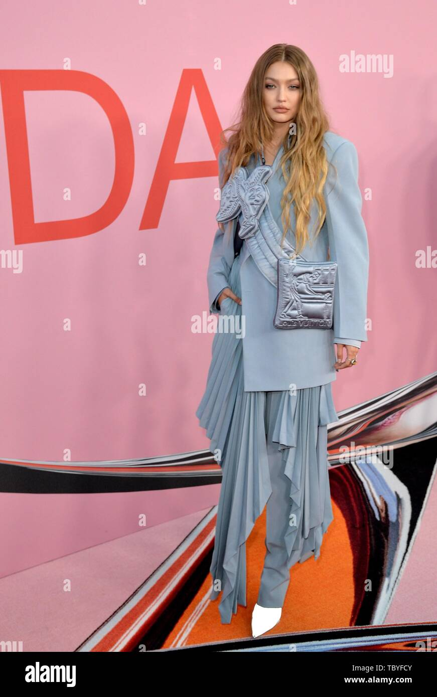 Gigi Hadid At Arrivals For 2019 Council Of Fashion Designers Of America Cfda Awards The Brooklyn Museum Brooklyn Ny June 3 2019 Photo By Kristin Callahan Everett Collection Stock Photo 248311195 Alamy