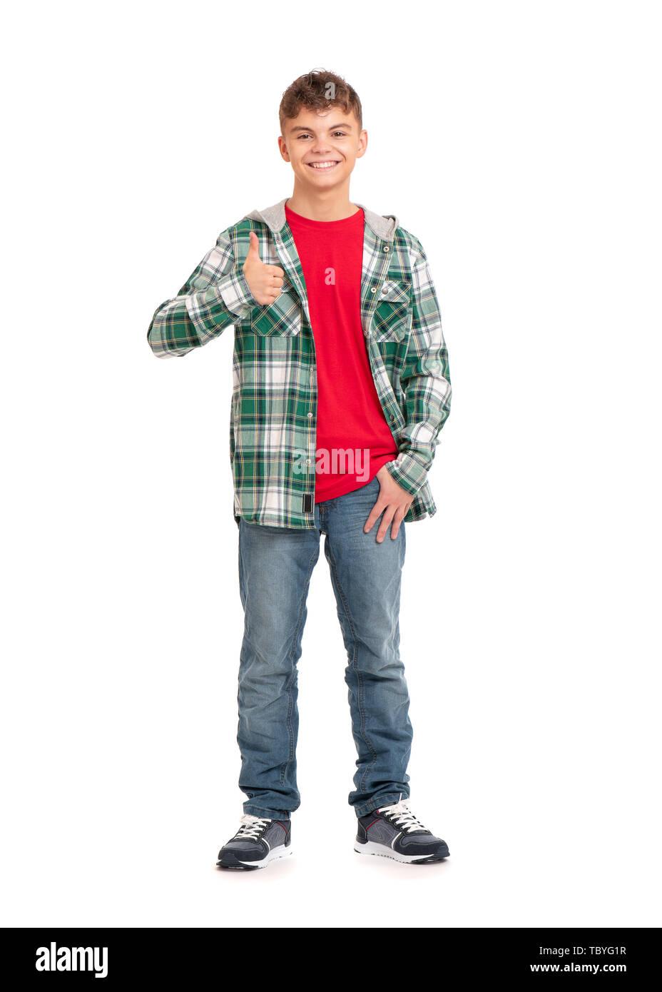 Full length portrait of boy - Stock Image