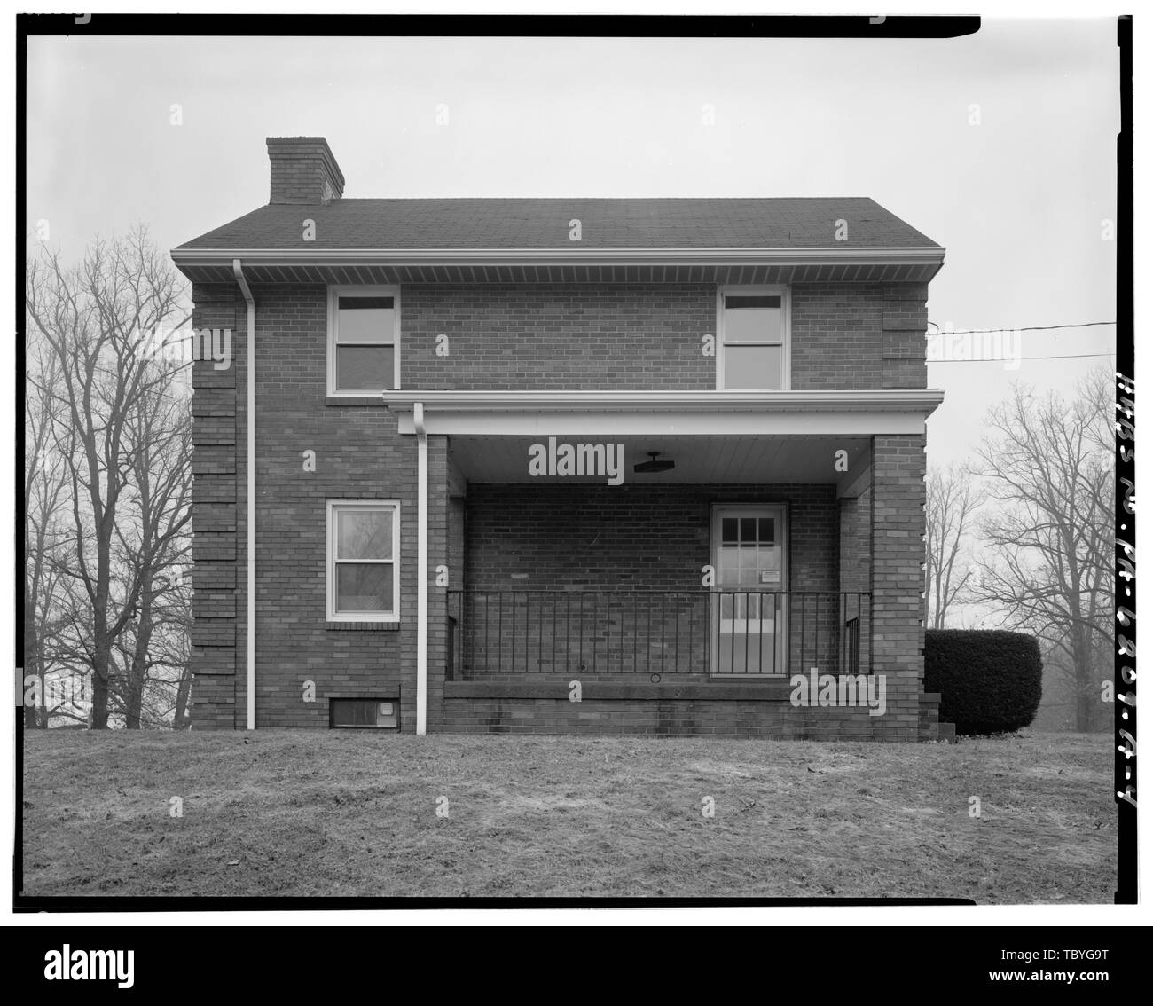 Mahoning Creek Dam, Damtender's Dwelling No. 1, 6 miles east of S.R. 28, Kittanning, Armstrong County, PA - Stock Image