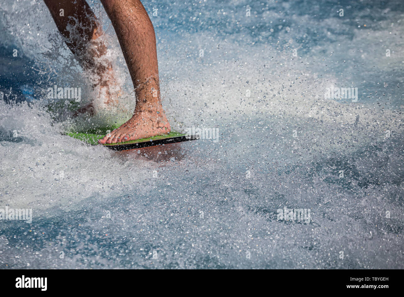 Closeup of Surfer feet - Stock Image