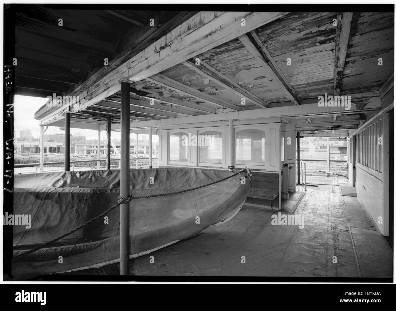 Mid deck at bow  San Mateo Ferry, South end of Lake Union, Seattle, King County, WA Bethlehem Shipbuilding Corporation Lebovich, Bob, historian Lowe, Jet, photographer - Stock Image
