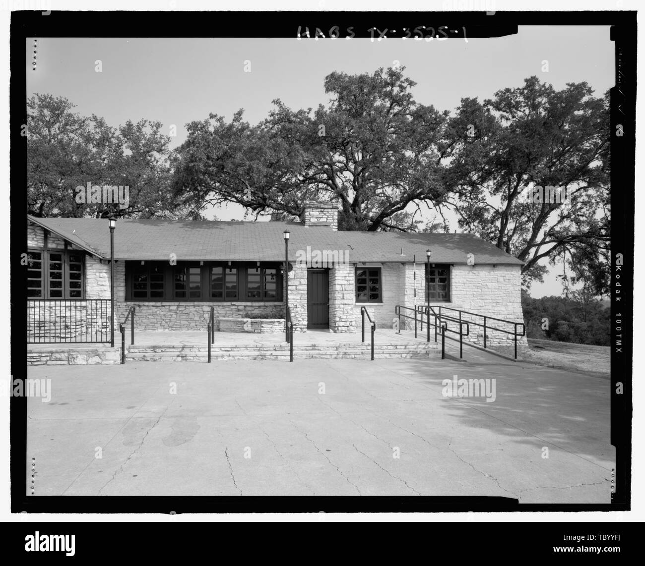 north end of east exterior elevation zilker park club house 200 clubhouse road austin travis county tx stock photo alamy alamy