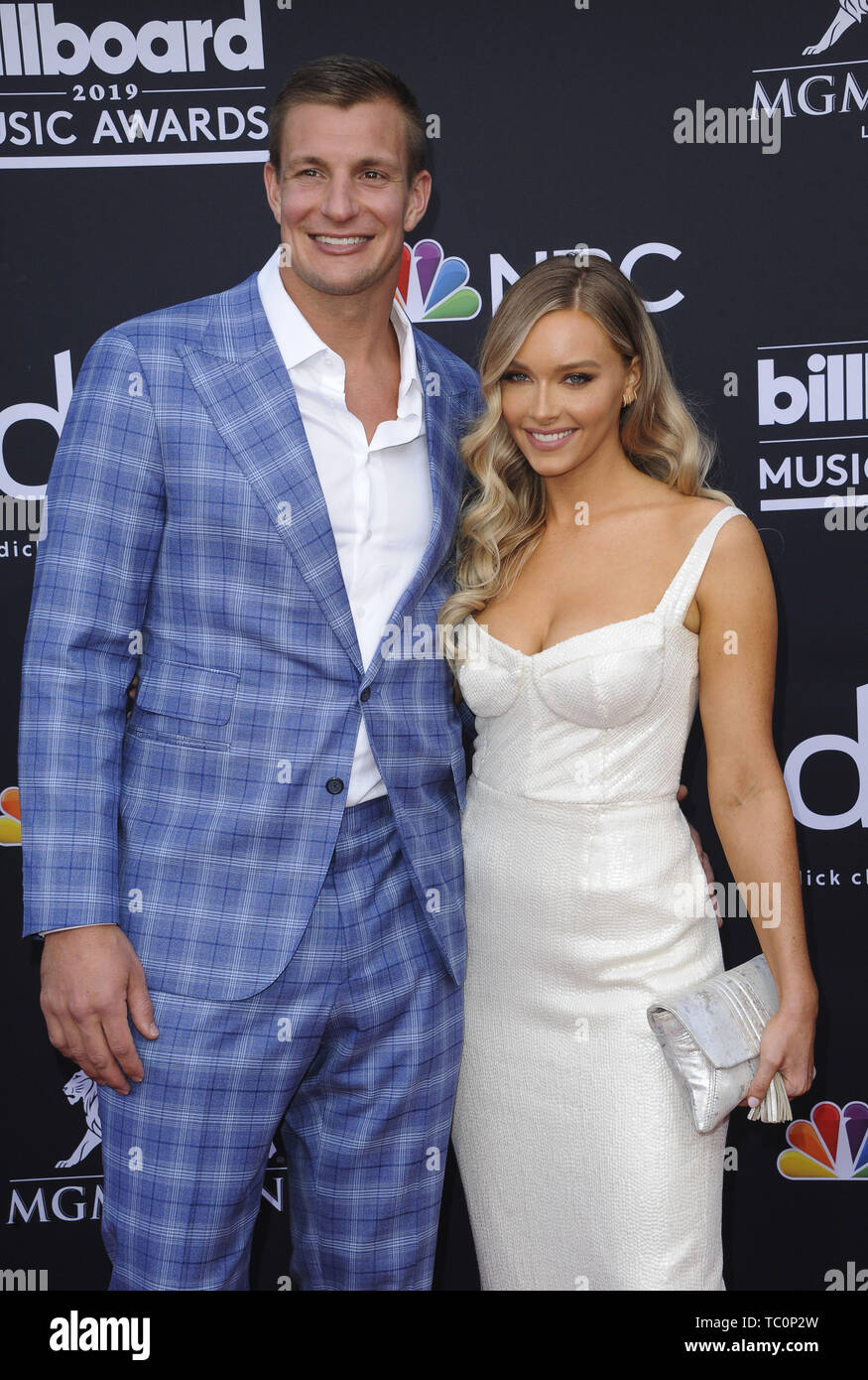 The 2019 Billboard Music Awards Arrivals  Featuring: Rob Grokowski, Camille Kostek Where: Los Angeles, California, United States When: 02 May 2019 Credit: Apega/WENN.com - Stock Image