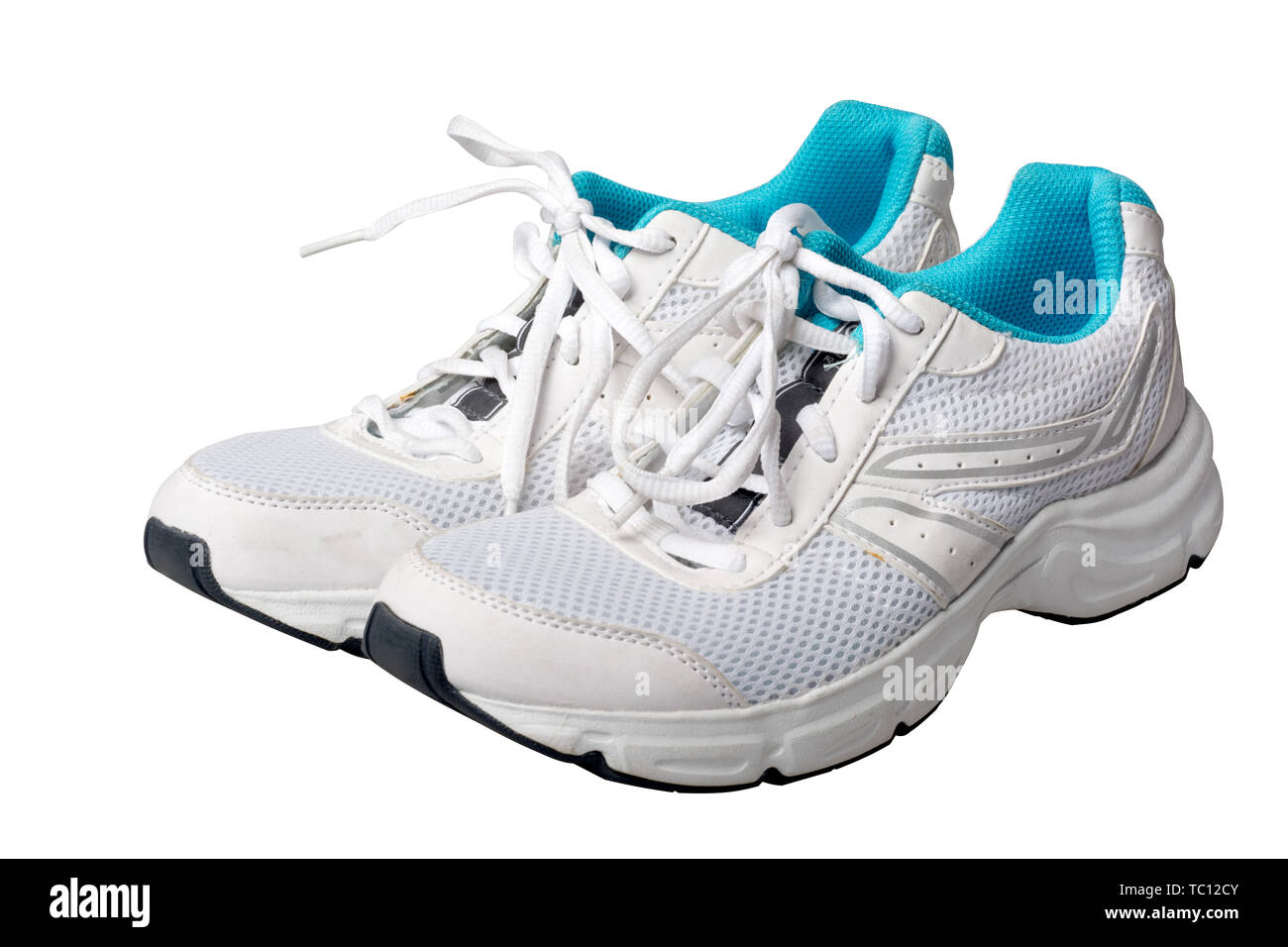 isolated sports shoes on white background Stock Photo