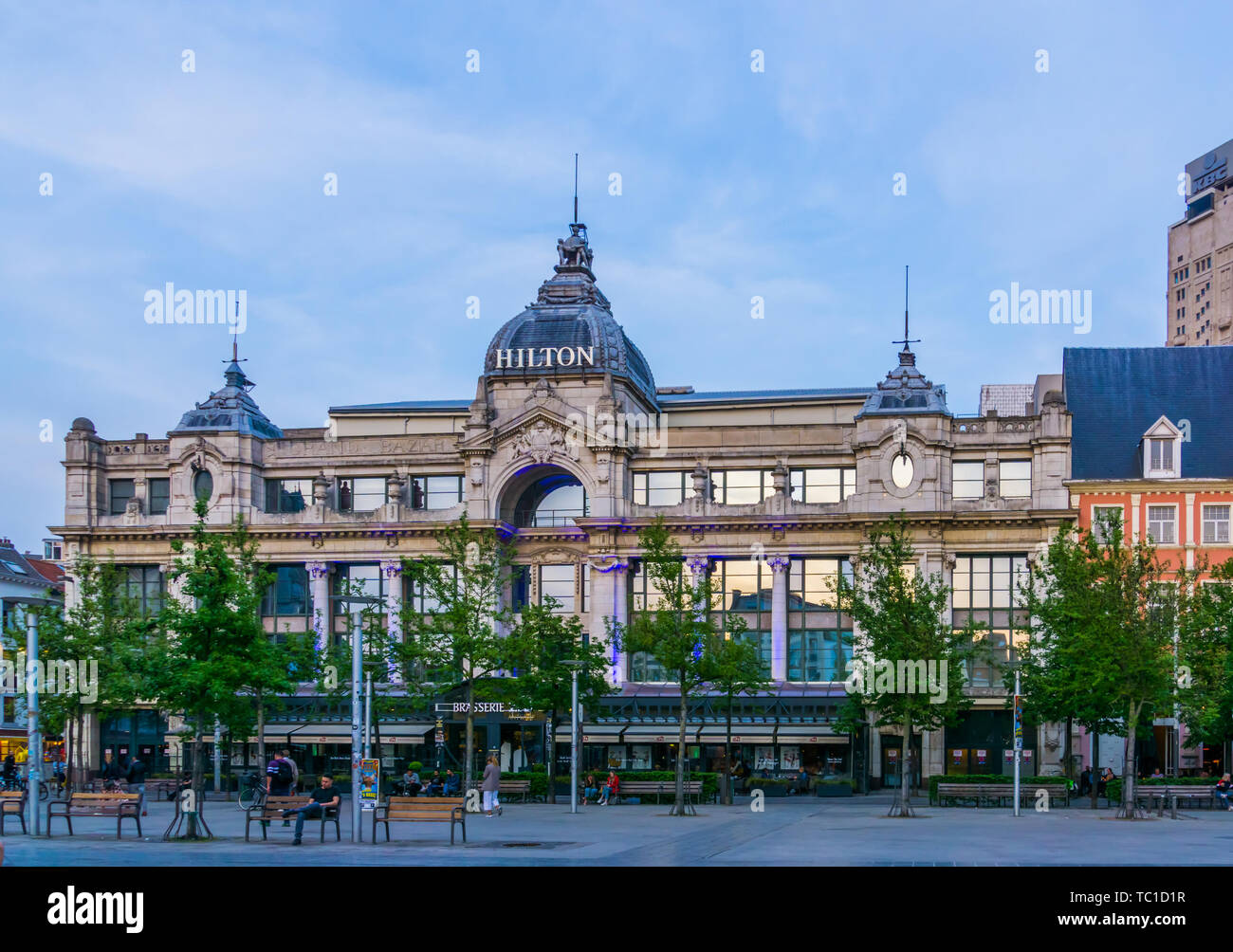 The Front Of The Hilton Hotel In Antwerp City World Wide Popular Hotel Chain Antwerpen Belgium April 23 2019 Stock Photo Alamy