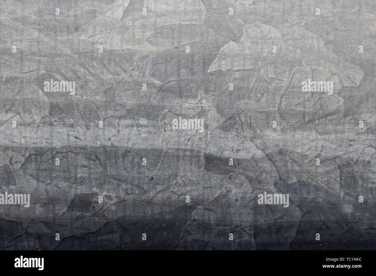 Galvanized gray metal surface texture - Stock Image