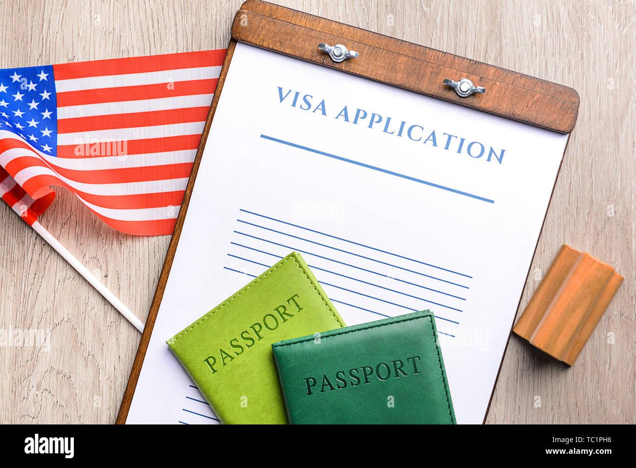 Visa Stamp Usa Stock Photos Visa Stamp Usa Stock Images