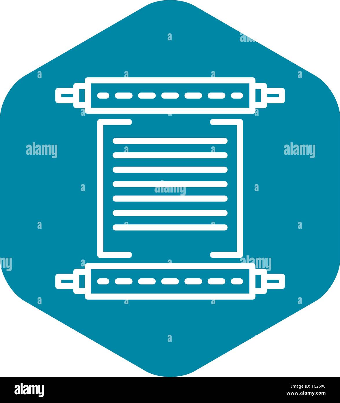 Hanukkah papyrus icon, outline style - Stock Vector