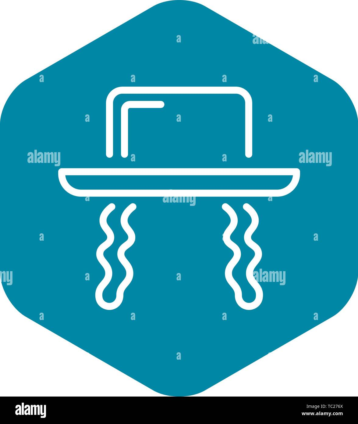 Jewish hat icon, outline style - Stock Vector