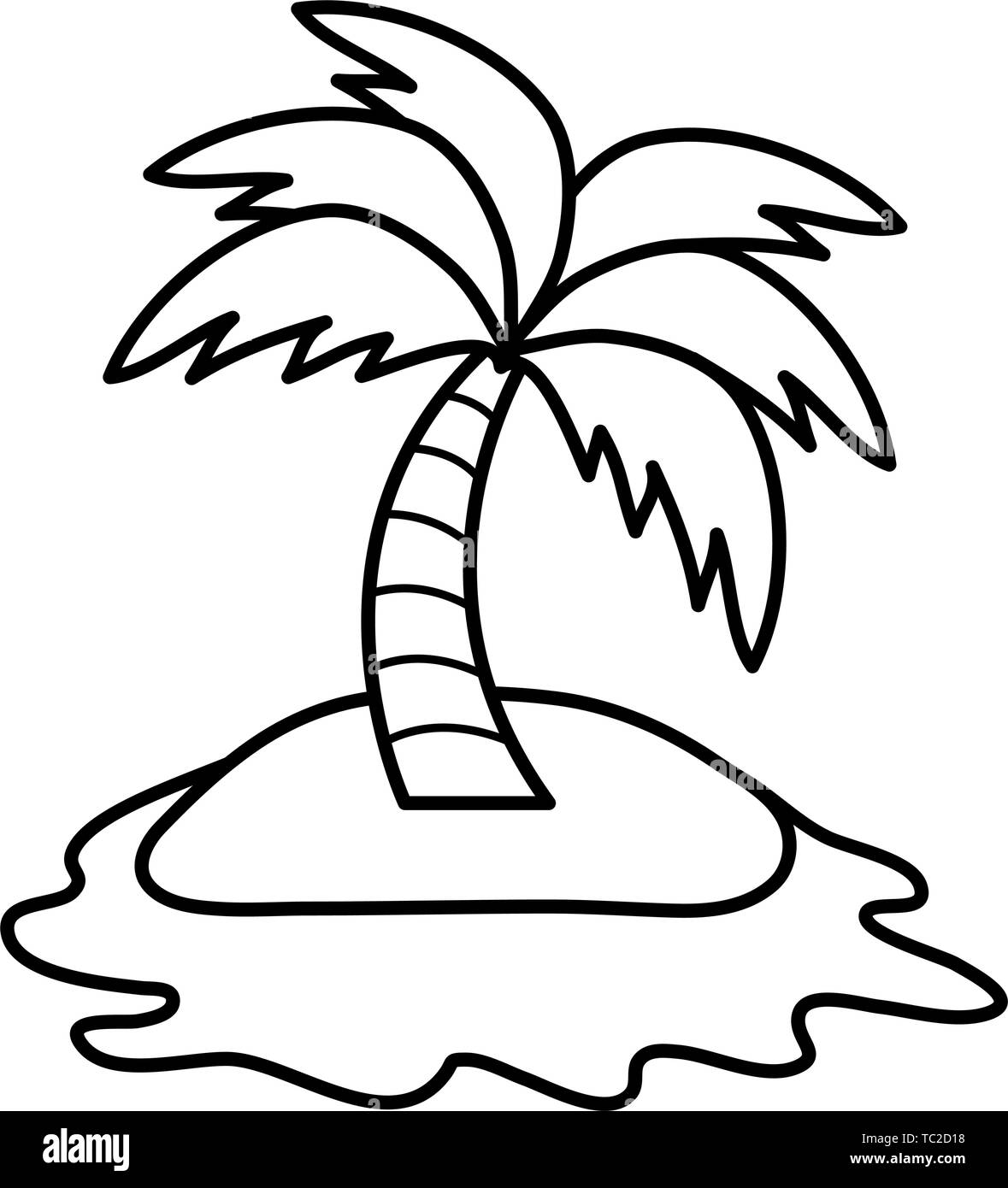 tree palm beach in island summer icon vector illustration design stock vector image art alamy https www alamy com tree palm beach in island summer icon vector illustration design image248375156 html