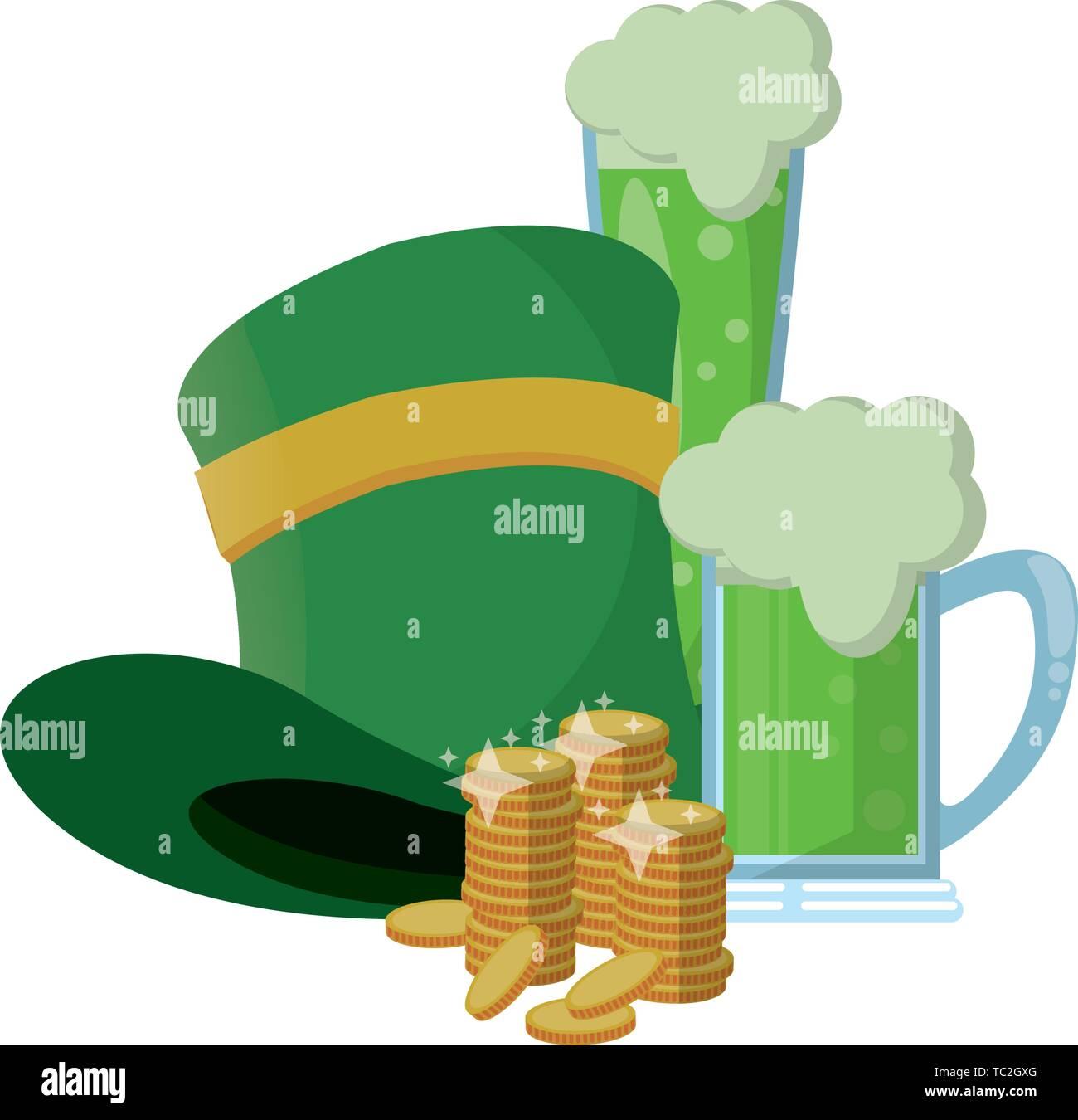 saint patrick day irish celebration - Stock Image
