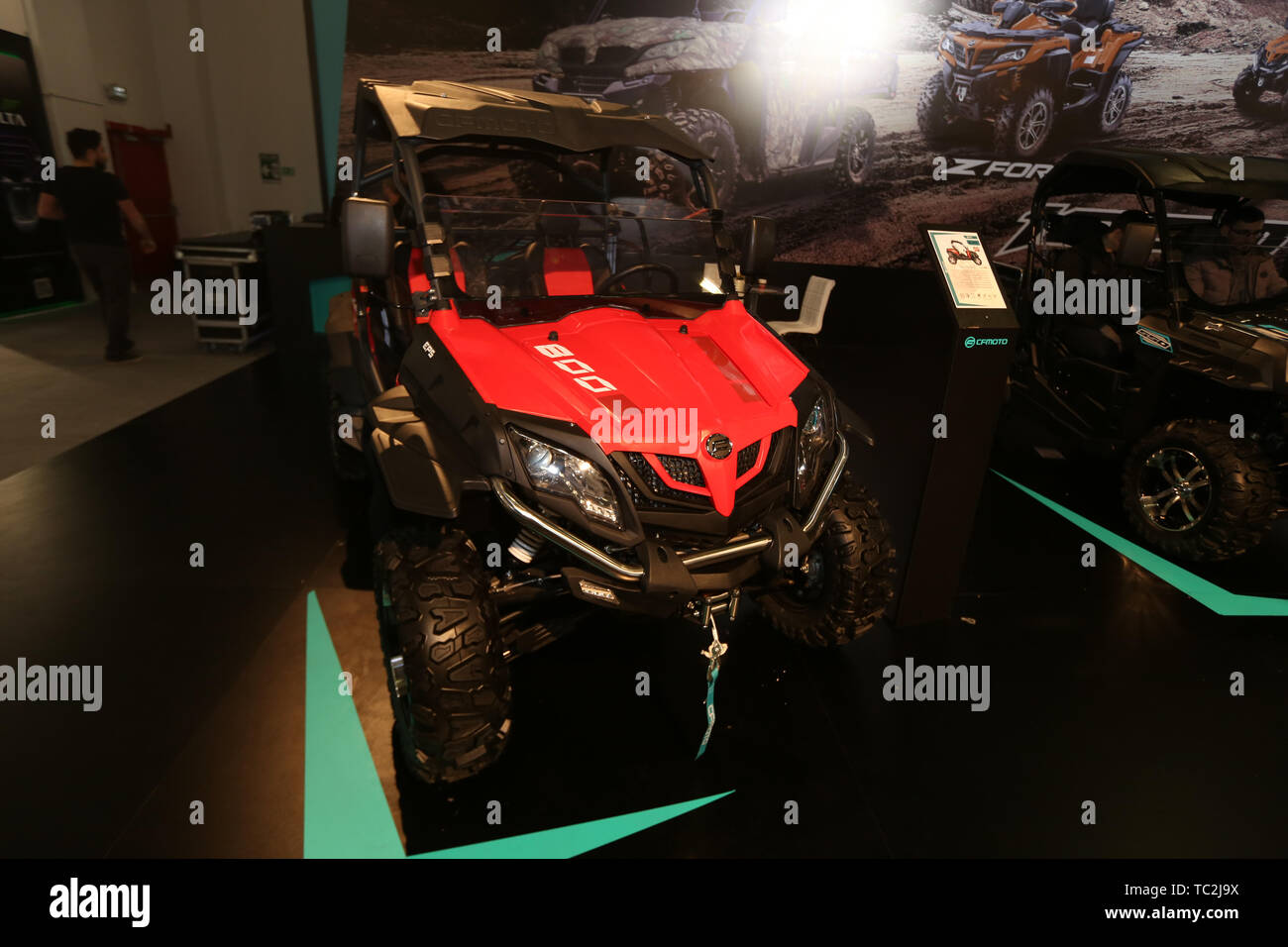 ISTANBUL, TURKEY - FEBRUARY 23, 2019: ZForce 800 EX ATV on display at Motobike Istanbul in Istanbul Exhibition Center - Stock Image