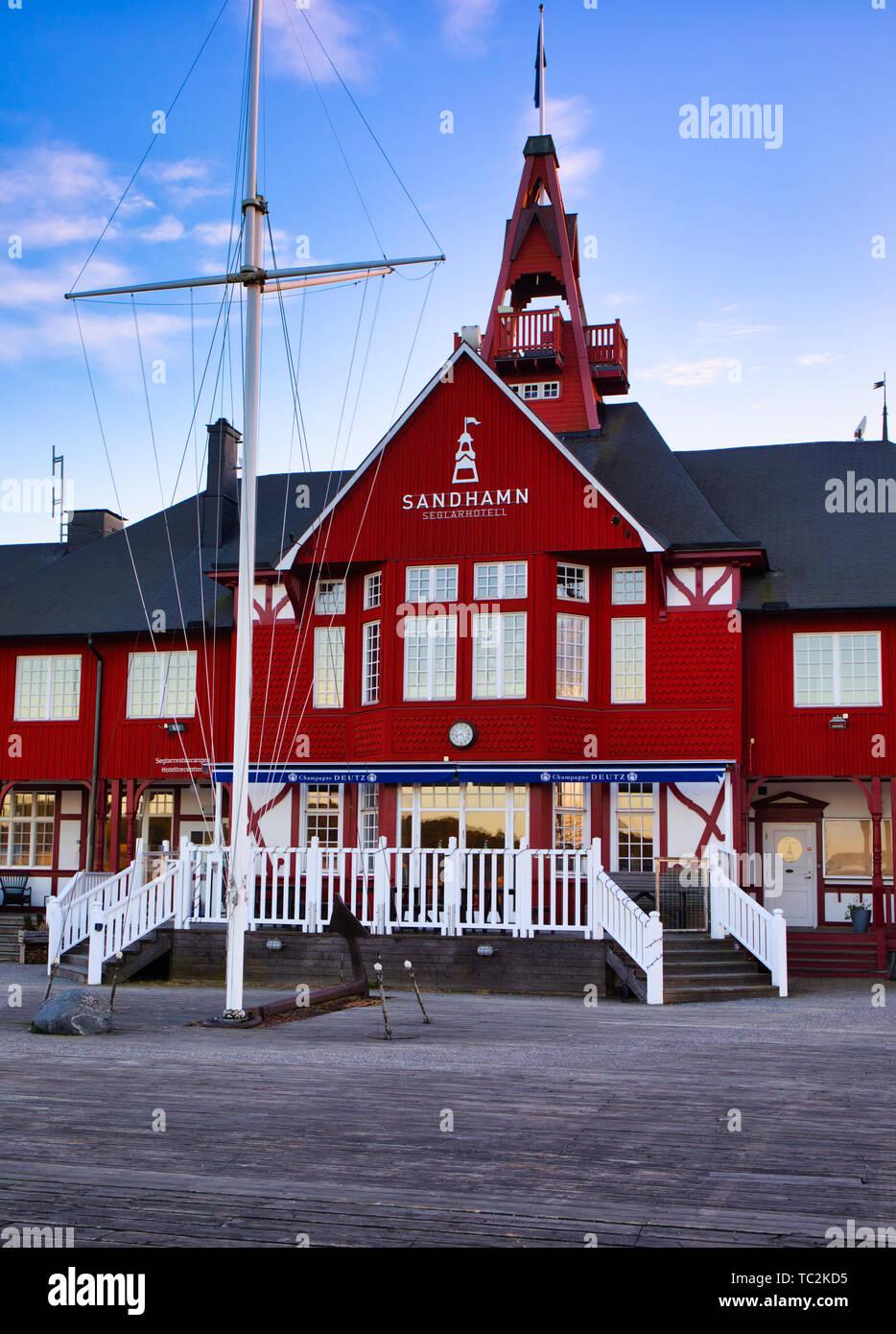 Sandhamn Seglarhotell,Sandhamn island, Stockholm archipelago, Sweden, Scandinavia - Stock Image