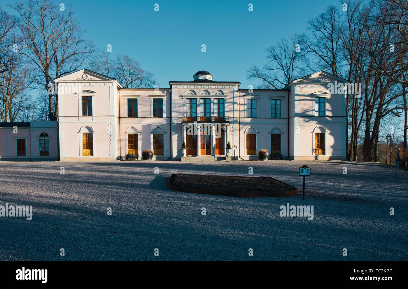 Rosendal Palace (Rosendals Slott) Djurgarden Stockholm Sweden Scandinavia - Stock Image