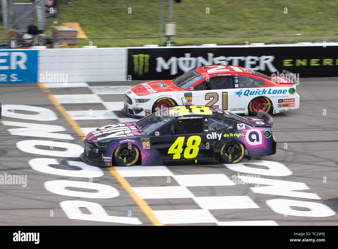 June 02, 2019: Monster Energy NASCAR Cup Series drivers