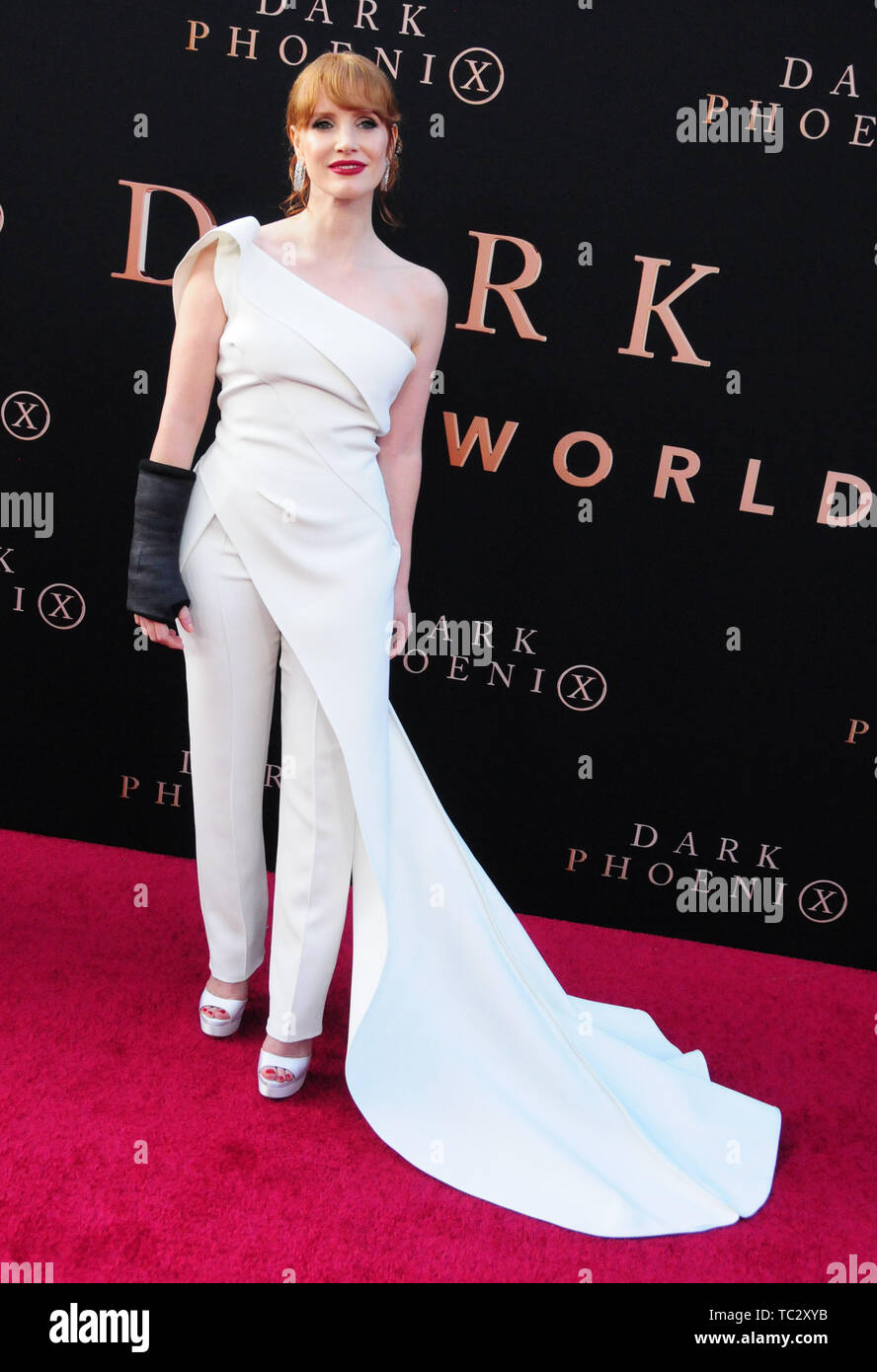 Hollywood, California, USA 4th June 2019 Actress Jessica Chastain attends the World Premiere of 20th Century Fox's 'Dark Phoenix' on June 4, 2019 at TCL Chinese Theatre IMAX in Hollywood, California, USA. Photo by Barry King/Alamy Live News Stock Photo