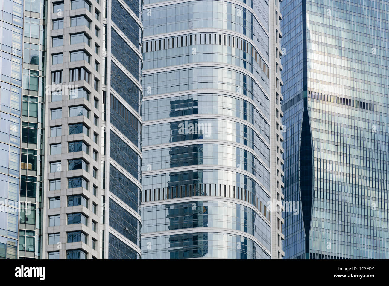 Commercial buildings Stock Photo