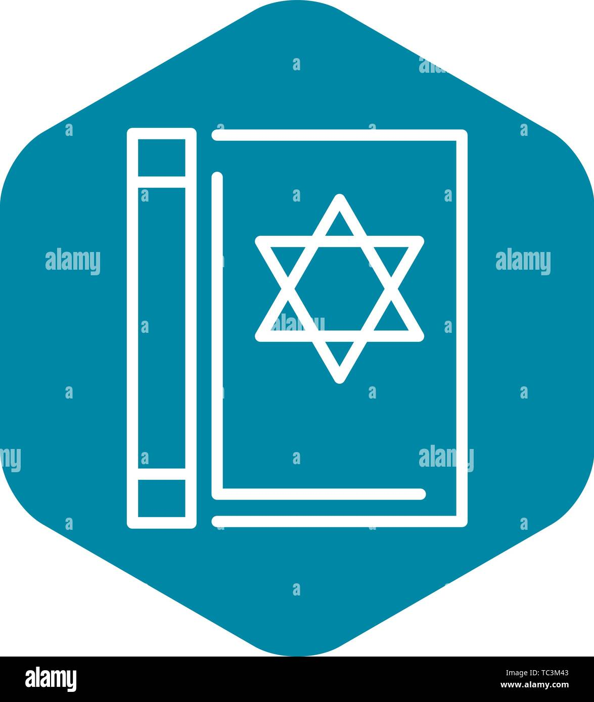 Torah book icon, outline style - Stock Vector