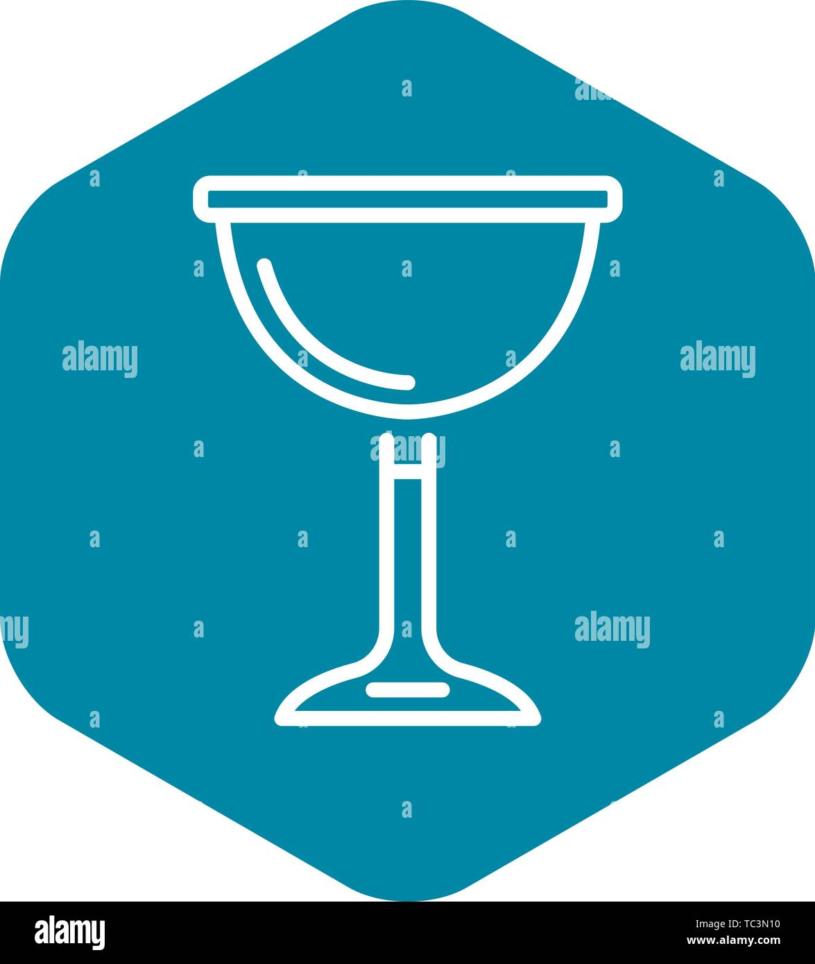 Jewish wine cup icon, outline style - Stock Vector