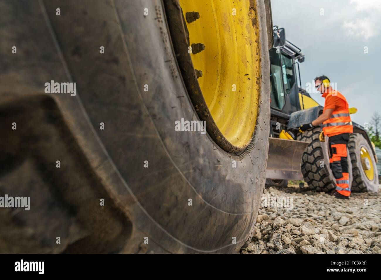 Heavy Equipment Rental Concept Photo  Machine and the