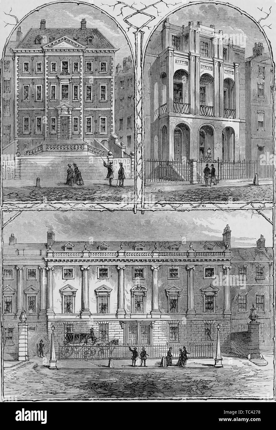 LINCOLN/'S INN FIELDS HOUSES Duke of Ancaster c1880 Sir John Soane Newcastle