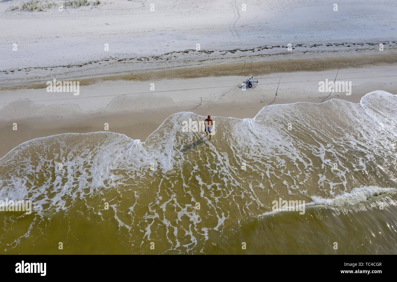 Florida Beach Surf Fishing Stock Photos & Florida Beach Surf Fishing