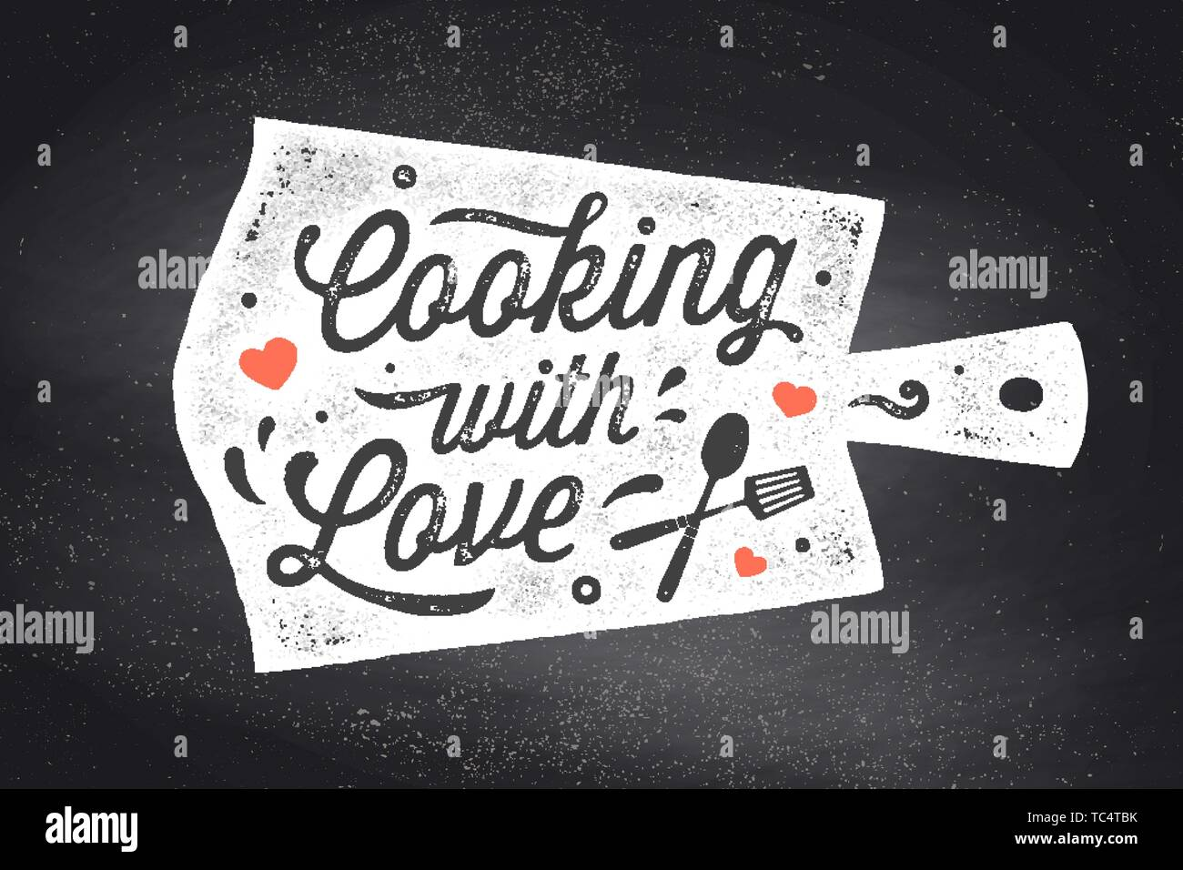 Cooking with Love. Kitchen poster. Kitchen wall decor, sign