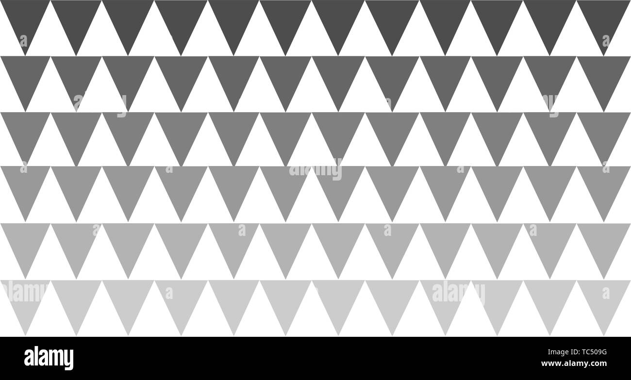 black white print vertical triangles pattern minimalist background - Stock Image