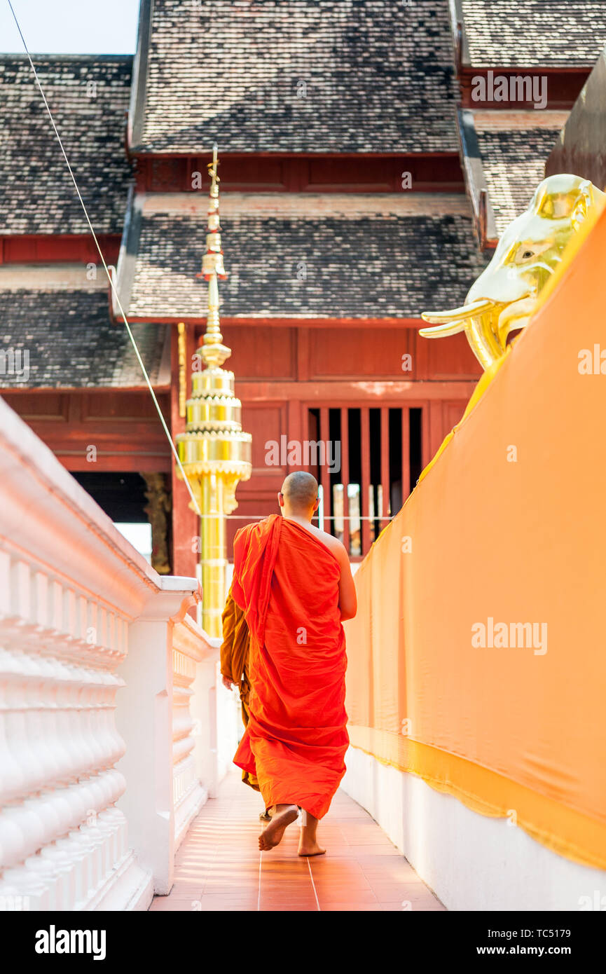 Wat Phra Singh Woramahavikarn Buddhist Temple Chiang Mai Thailand. Stock Photo