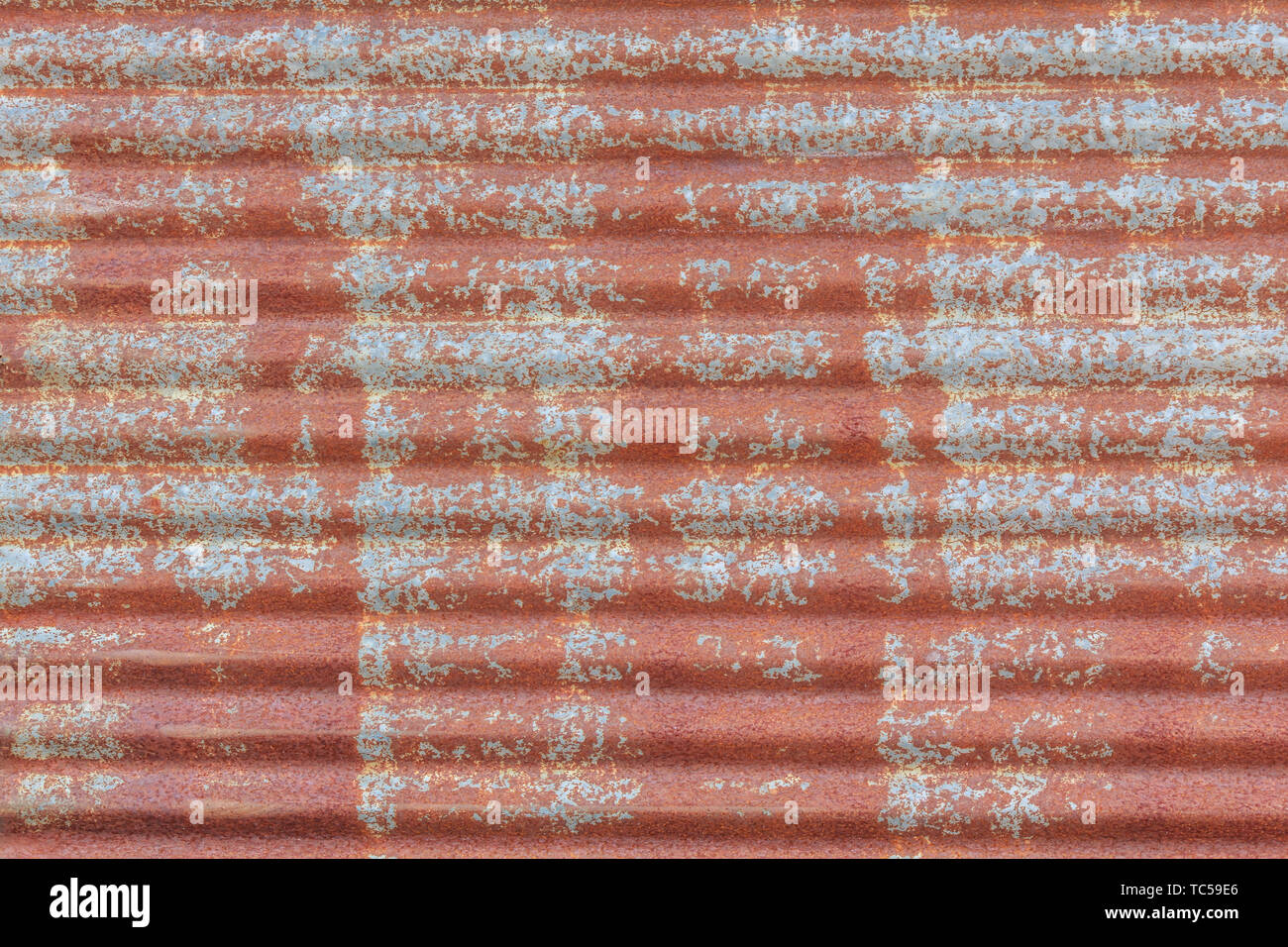 Rusted galvanized iron plate texture - Stock Image
