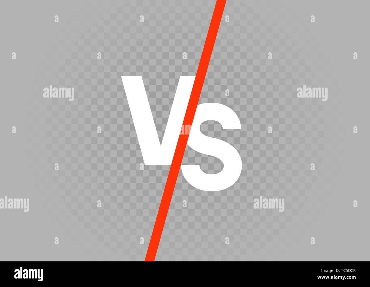 White Versus Vs Letters On Gray Transparent Background Battle