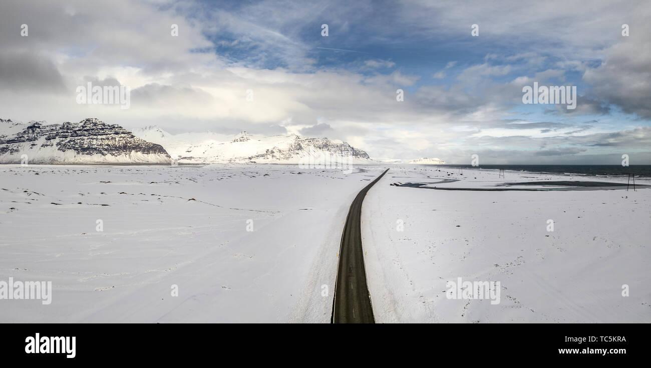 Ring Road or Route One, Vatnajokull National Park, Iceland Stock Photo