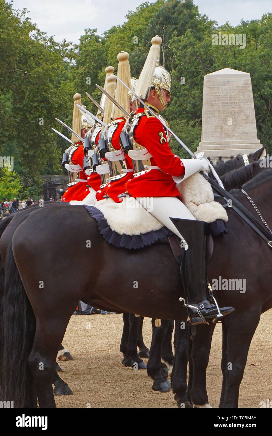 Queen's Life Guards. Horse Guards. London, England, Great Britain, Europe. Stock Photo