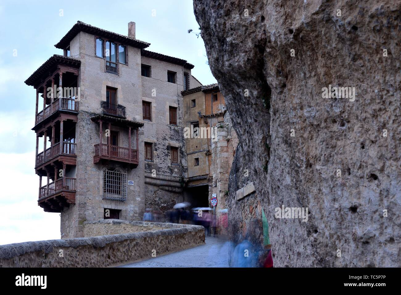 Customary houses of Cuenca, Spain. - Stock Image