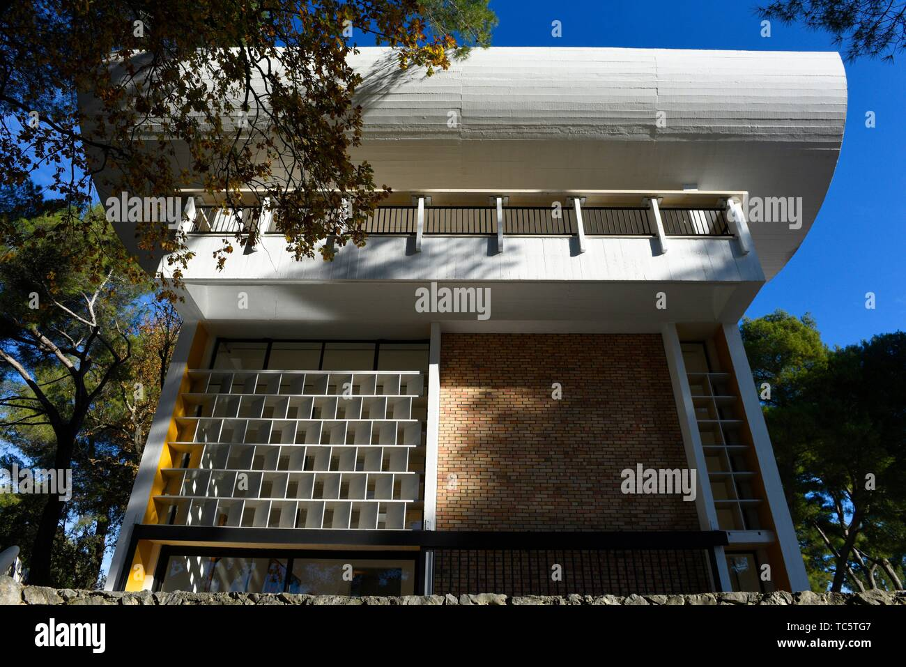 Fondation Maeght, Saint-Paul-de-Vence,Alpes Maritimes department,Provence Alpes Cote d'Azur region,Southeast France. - Stock Image