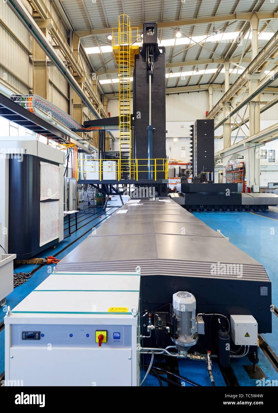 Lathe, Machining Center, CNC, Design, manufacture and installation of machine tools, Gipuzkoa, Basque Country, Spain, Europe - Stock Image