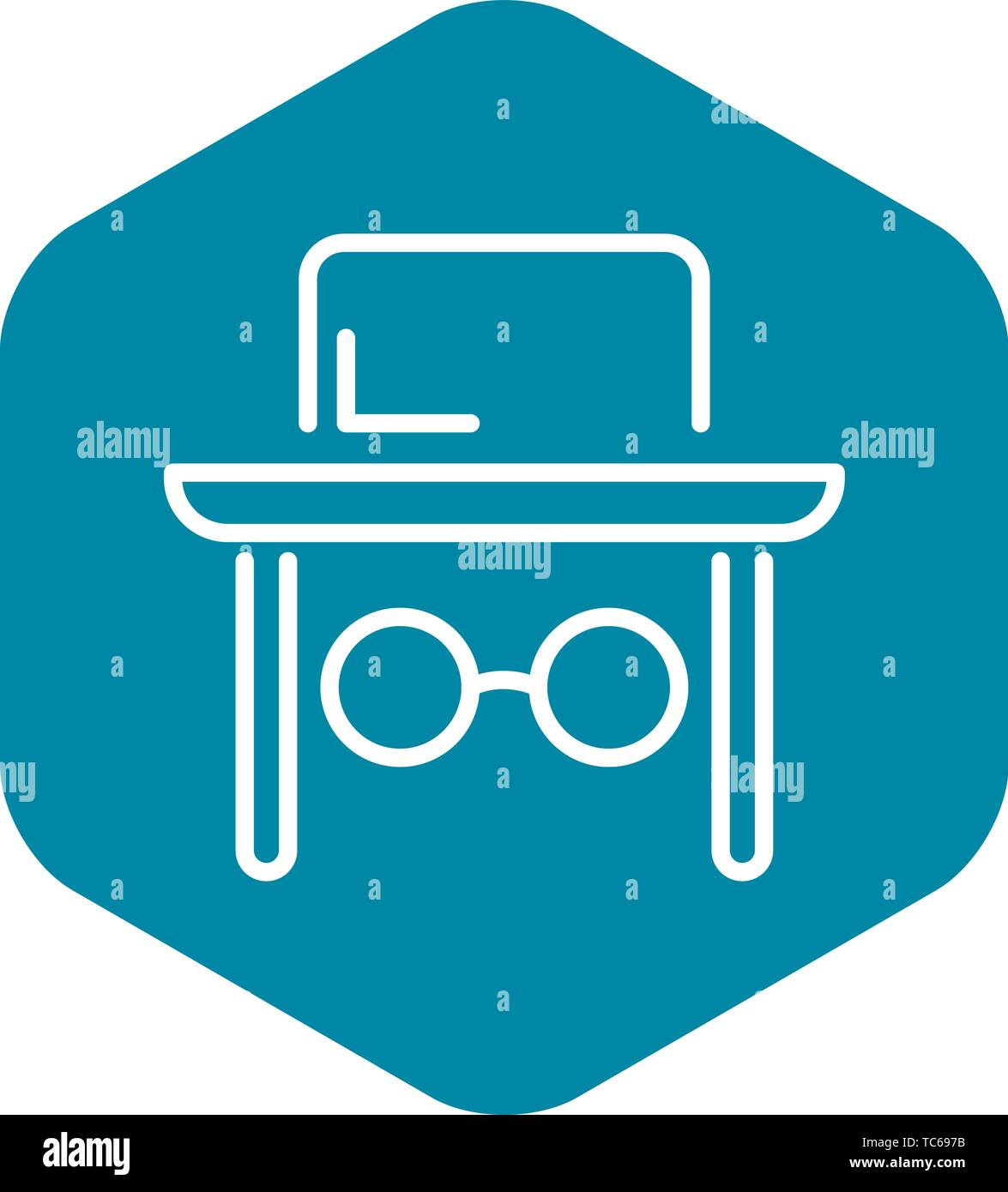 Jewish man face icon, outline style - Stock Vector