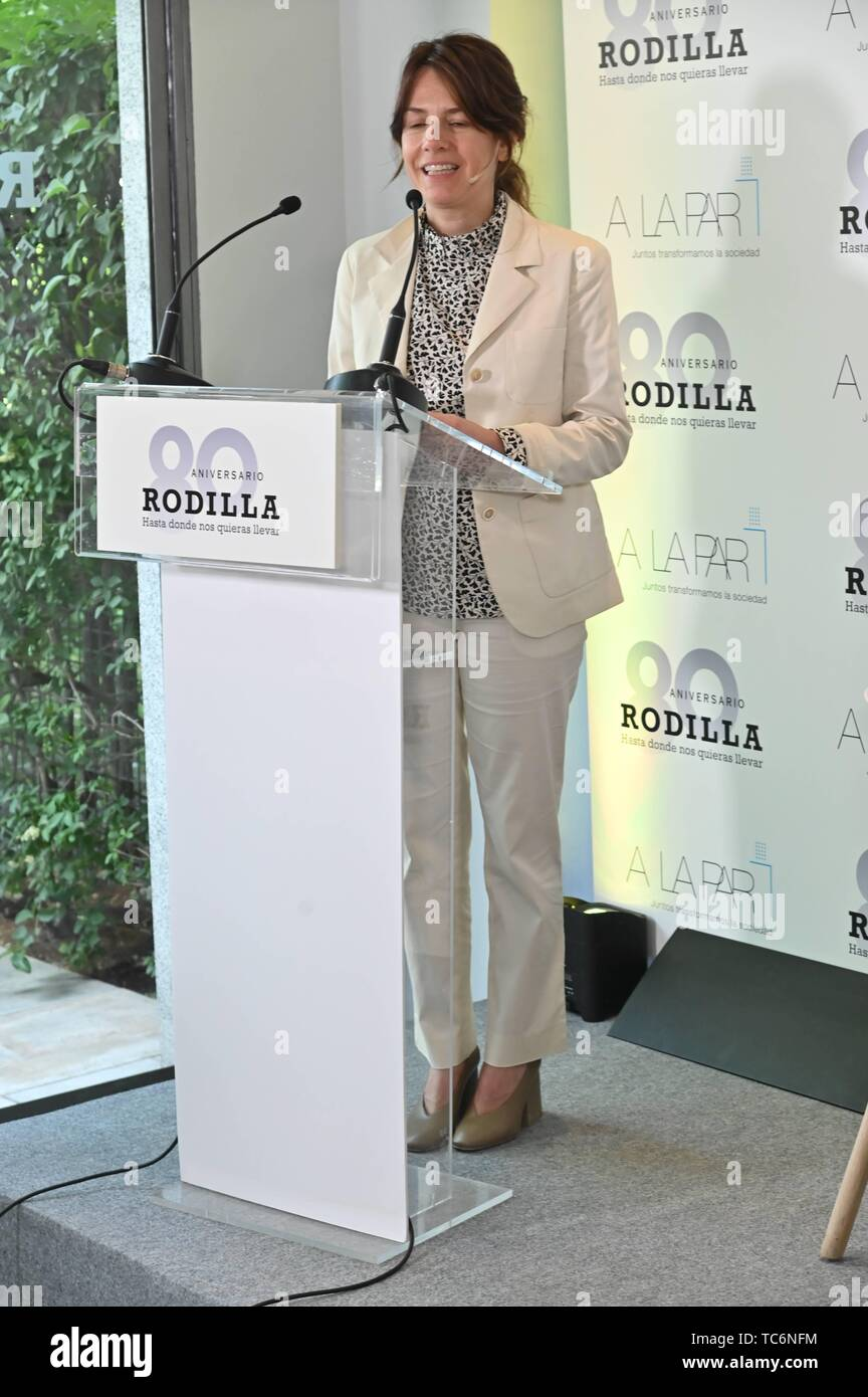 Madrid, Spain. 06th June, 2019. Samantha Vallejo Nagera during presentation of colaboration of A la Par Foundation and Rodilla in Madrid on Thursday, 06 June 2019. Credit: CORDON PRESS/Alamy Live News - Stock Image