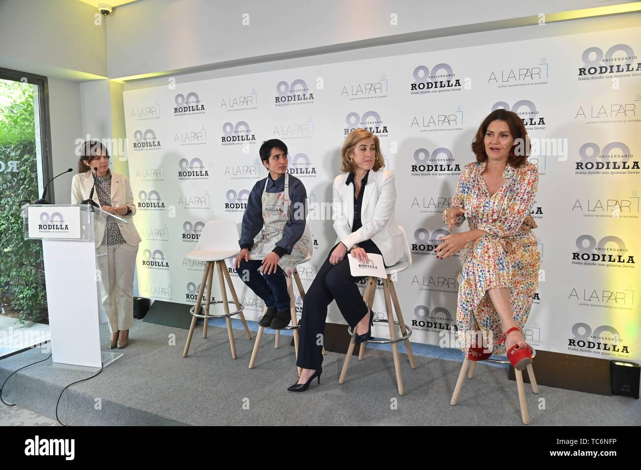Madrid, Spain. 06th June, 2019. Samantha Vallejo Nagera during presentation of colaboration of A la Par Foundation and Rodilla in Madrid on Thursday, 06 June 2019. Credit: CORDON PRESS/Alamy Live News Stock Photo