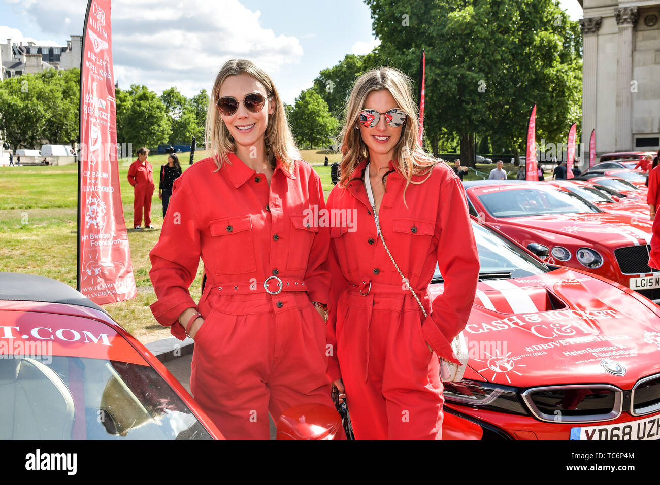 London, UK. 06th June, 2019. Celebs attend Cash & Rocket Photocall at Wellington Arch, on 6 June 2019, London, UK Credit: Picture Capital/Alamy Live News - Stock Image
